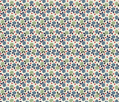 roses4 fabric by shiny on Spoonflower - custom fabric