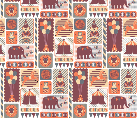 Retro Circus fabric by demigoutte on Spoonflower - custom fabric