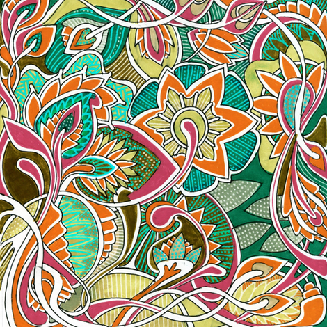 It's a Jungle Out There, color C fabric by edsel2084 on Spoonflower - custom fabric