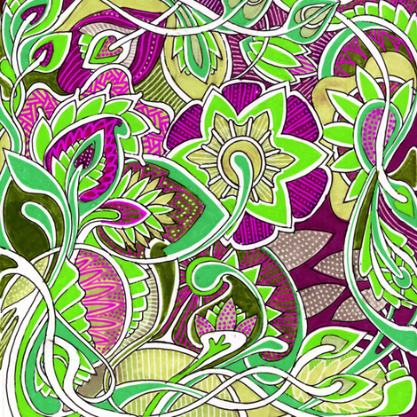 It's a Jungle Out There, color B fabric by edsel2084 on Spoonflower - custom fabric