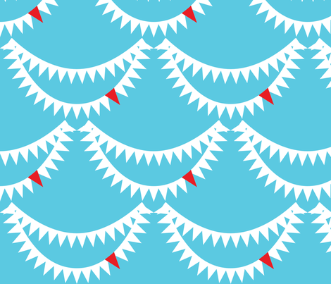 Shark smile ^ ^ fabric by majobv on Spoonflower - custom fabric