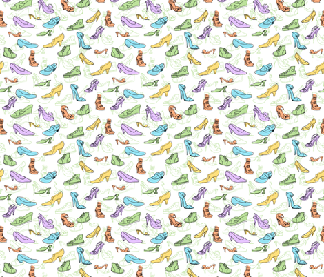 Shoe Obsession fabric by woodledoo on Spoonflower - custom fabric