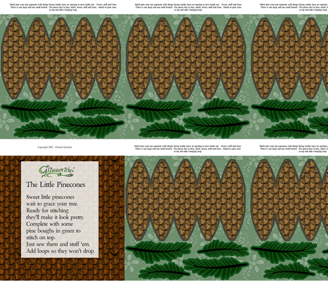 ©2011 The Little Pinecones fabric by glimmericks on Spoonflower - custom fabric
