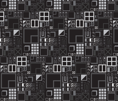 22Black fabric by dolphinandcondor on Spoonflower - custom fabric