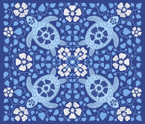 Kauai Turtles fabric by coloroncloth on Spoonflower - custom fabric