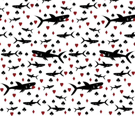 Card Sharks fabric by robyriker on Spoonflower - custom fabric