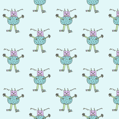Caleb's Aqua Bot fabric by captiveinflorida on Spoonflower - custom fabric