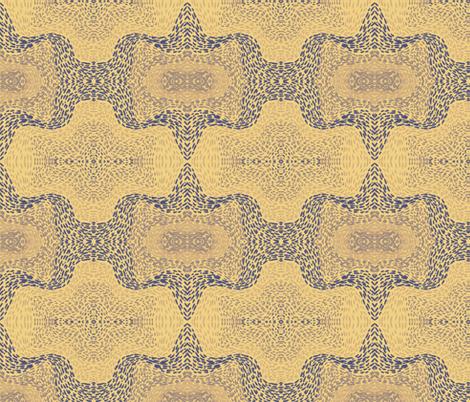 Indigo and violet bat paths on apricot by Su_G fabric by su_g on Spoonflower - custom fabric