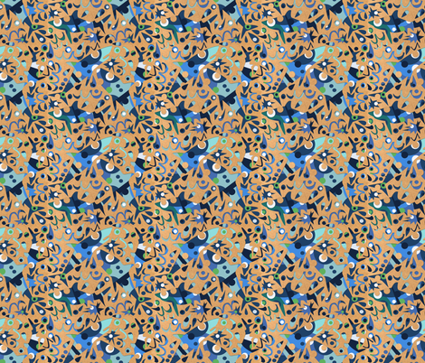 Cut Paper Sharks fabric by gsonge on Spoonflower - custom fabric