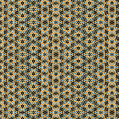 Lady Pirate's Mosaic fabric by siya on Spoonflower - custom fabric