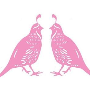 Pink Quail Couple