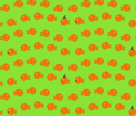 Killer Goldfish fabric by pininkie on Spoonflower - custom fabric