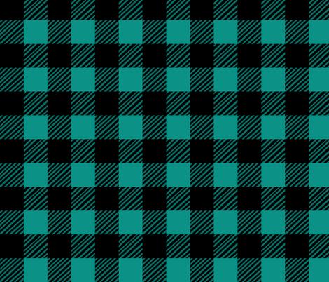 Teal Plaid fabric by pond_ripple on Spoonflower - custom fabric