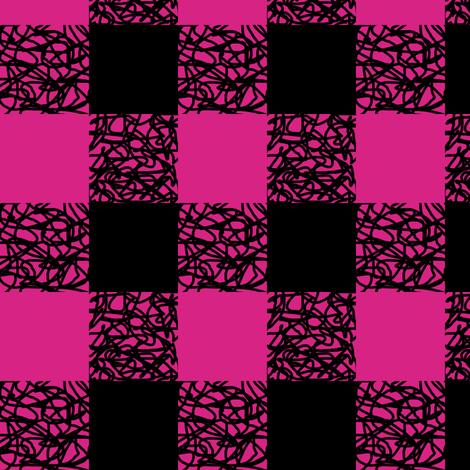 Fuchsia Scumbling Plaid fabric by pond_ripple on Spoonflower - custom fabric