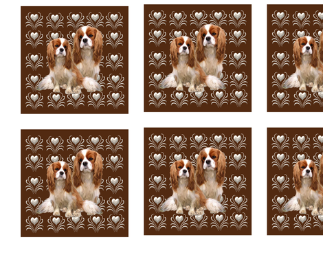 Set of 20 Cavalier King Charles fabric squares fabric by dogdaze_ on Spoonflower - custom fabric