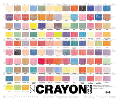 Crayon Color Chart || crayola crayons graphic design palette