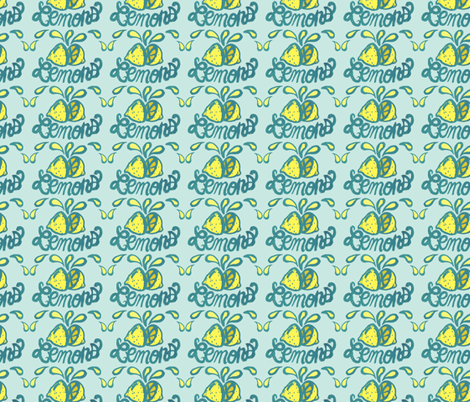 LEMONS! fabric by gsonge on Spoonflower - custom fabric