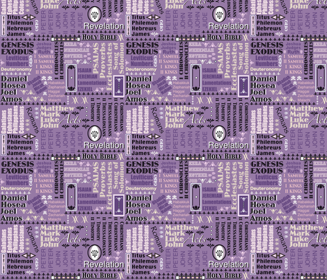Books of The Bible 143-100-151 fabric by petals_fair_(peggy_brown) on Spoonflower - custom fabric