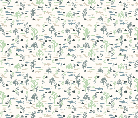 Serene (small) fabric by mondaland on Spoonflower - custom fabric