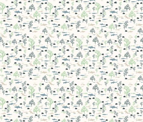 Serene fabric by mondaland on Spoonflower - custom fabric