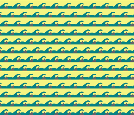 Shark in the Water fabric by annalisa222 on Spoonflower - custom fabric