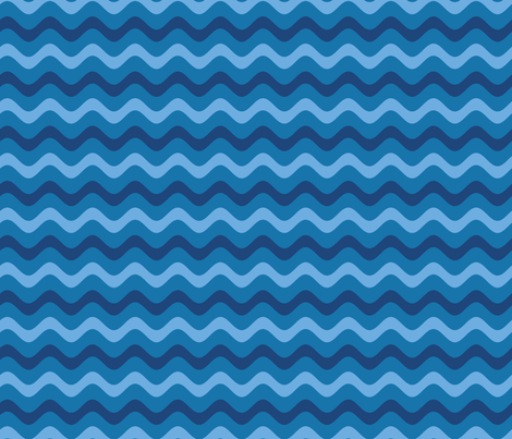 Hello Waves fabric by amywtsn on Spoonflower - custom fabric