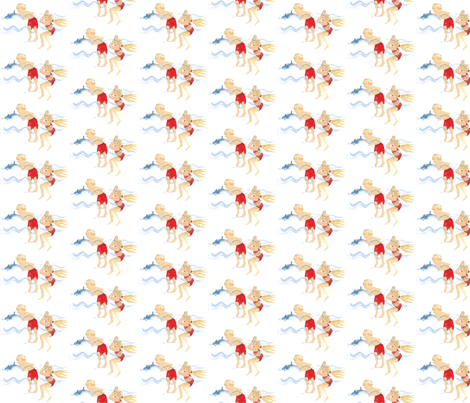 Seaside shark play fabric by willowday_|_gina_vide on Spoonflower - custom fabric