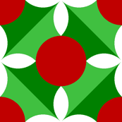 holly leaf, flower and berry 4x