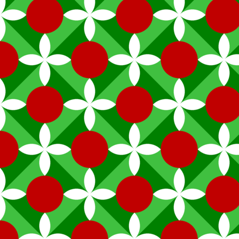 00696669 : holly leaf, flower + berry 4x fabric by sef on Spoonflower - custom fabric