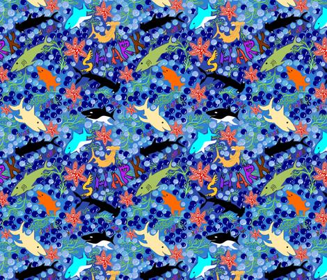 Happy Sharks fabric by createdgift on Spoonflower - custom fabric