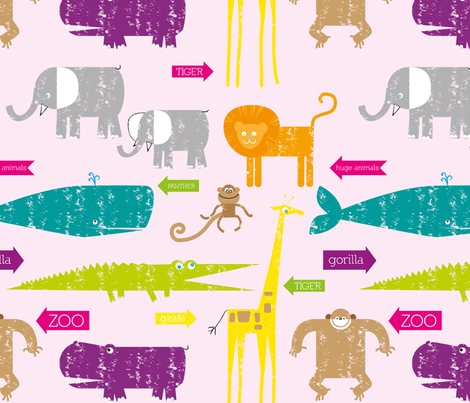 Zoo fabric by loki_and_lamb on Spoonflower - custom fabric