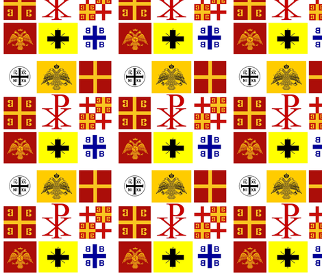 Byzantine_Flags_by_CaptainVoda fabric by rengal on Spoonflower - custom fabric