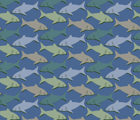 SHARKS! fabric by jazilla on Spoonflower - custom fabric