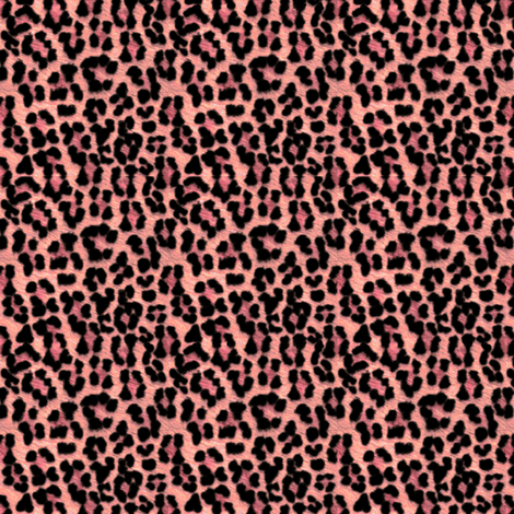 ©2011 Leopard - Salmon fabric by glimmericks on Spoonflower - custom fabric