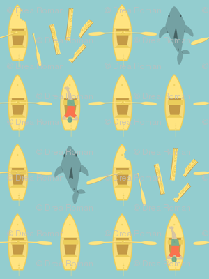 Row, Row, Row Your Boat Gently Down The...SHARK ATTACK!