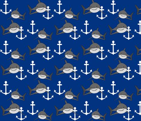 shark1 fabric by mayabella on Spoonflower - custom fabric