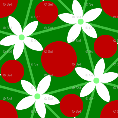 00697732 : holly leaf, flower + berry 5