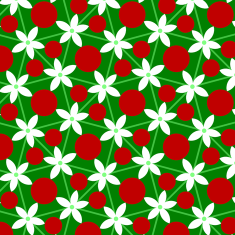 00697732 : holly leaf, flower + berry 5 fabric by sef on Spoonflower - custom fabric