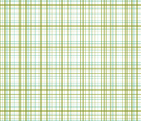 Ride a bike coordinating check in mint and olive (smaller plaid) fabric by me-udesign on Spoonflower - custom fabric