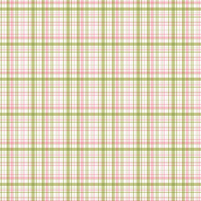 Ride a bike coordinating check in olive and pink (smaller plaid)