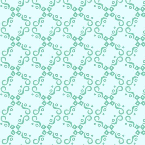 aqua and teal tile fabric by katrinazerilli on Spoonflower - custom fabric