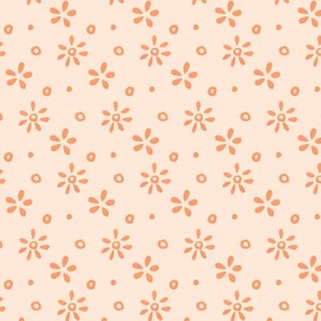 pink and coral ditsy