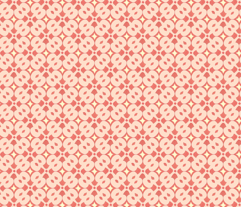 coral and rose tile fabric by katrinazerilli on Spoonflower - custom fabric