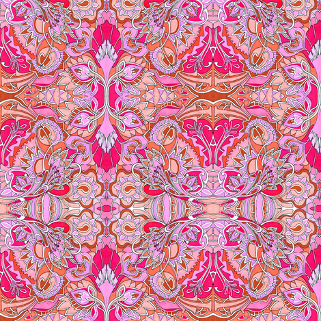 Milady's Hankie (pink) fabric by edsel2084 on Spoonflower - custom fabric