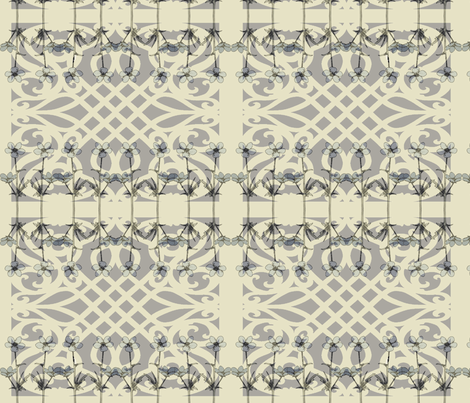Garden Gate Fog fabric by colie*leigh*designs on Spoonflower - custom fabric