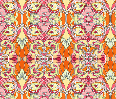 Budding Orange Love fabric by edsel2084 on Spoonflower - custom fabric