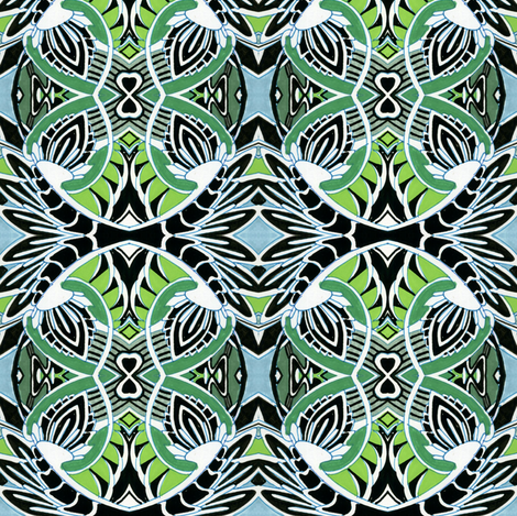 Bold Figures of 8 fabric by edsel2084 on Spoonflower - custom fabric