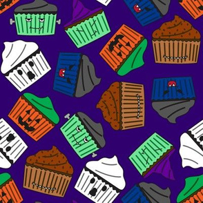 Halloween Cupcakes : Purple