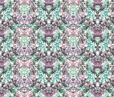 Wallpaper Floral Purple Green Black fabric by purplish on Spoonflower - custom fabric