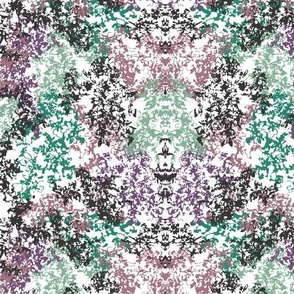 Wallpaper Floral Purple Green Black